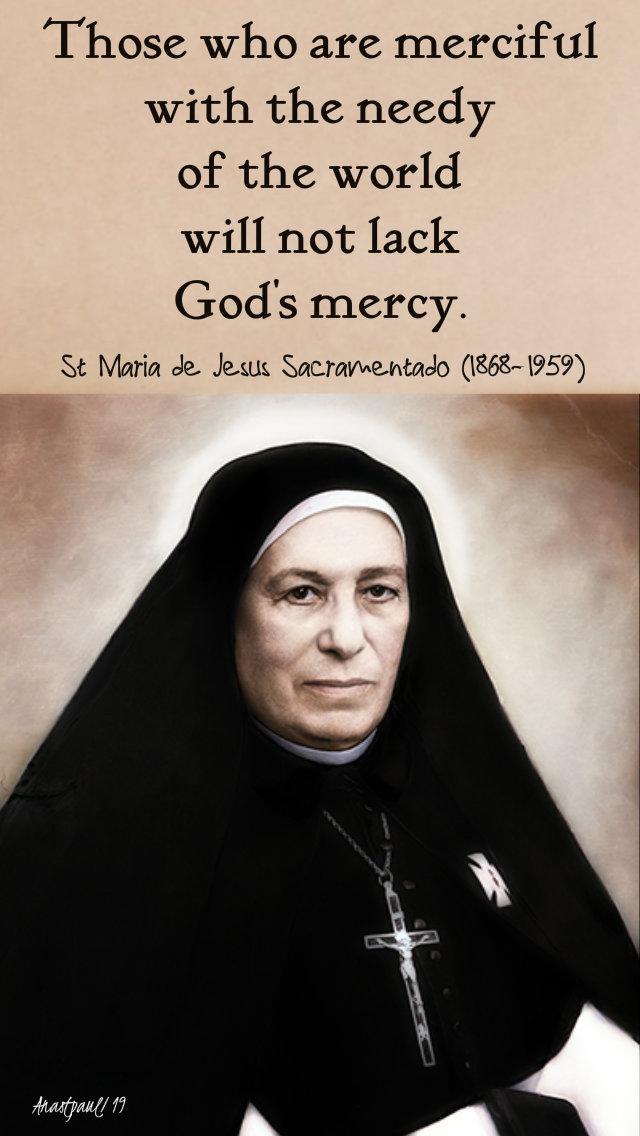 those who are merciful - st maride de jesus scramenntado 30 july 2019.jpg
