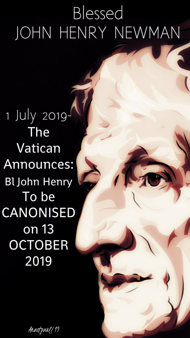 vatican announces canonisation of Bl John Henry Newman today 1 july 2019.jpg