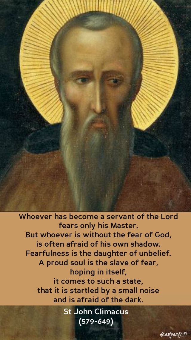 whoever has become a servant of the lord - st john climacus 2 july 2019