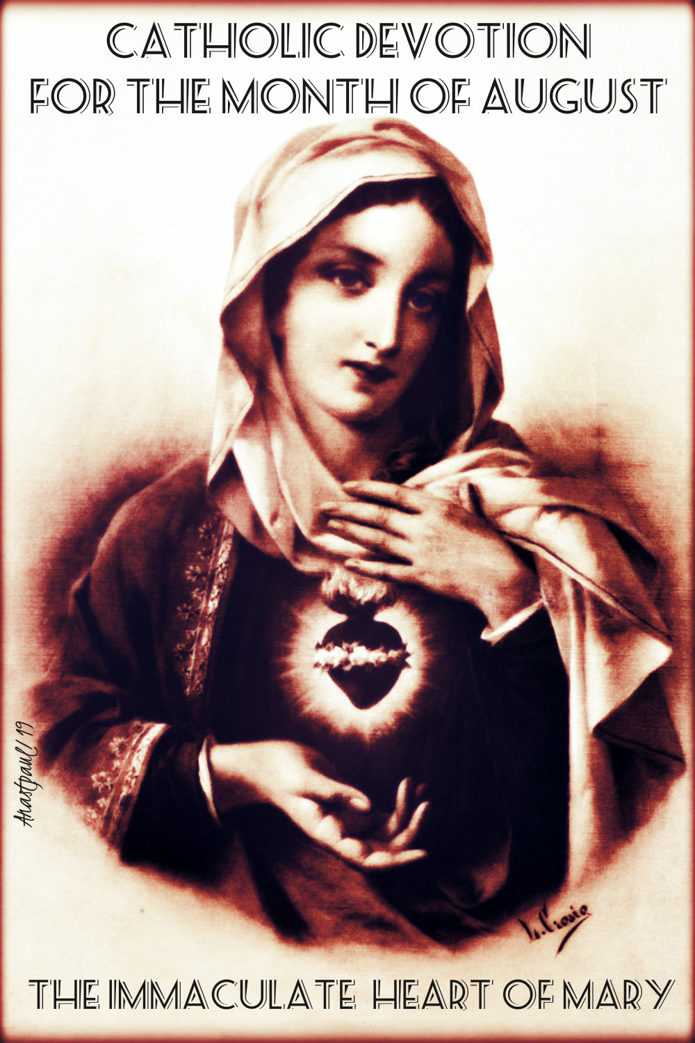 AUG DEVOTION THE IMMACULATE HEART 1 AUG 2019