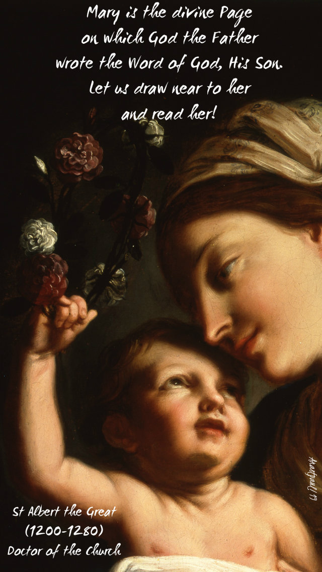 mary is the divine page on which god the father - st albert the great 3 aug 2019