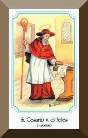 st caesarius holy card