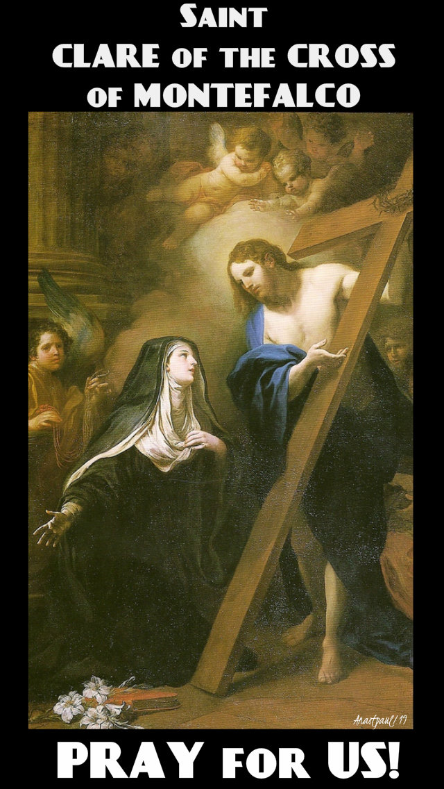 st clare of the cross of montefalco pray for us 17 aug 2019