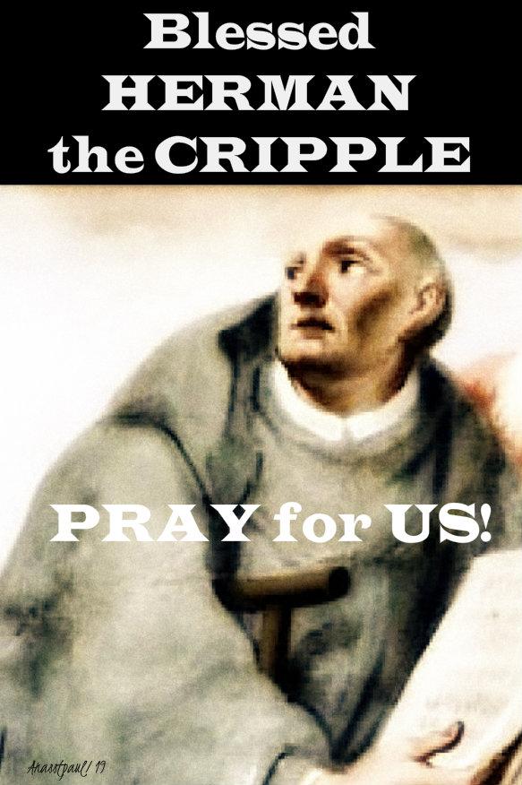 bl herman the cripple pray for us 25 sept 2019