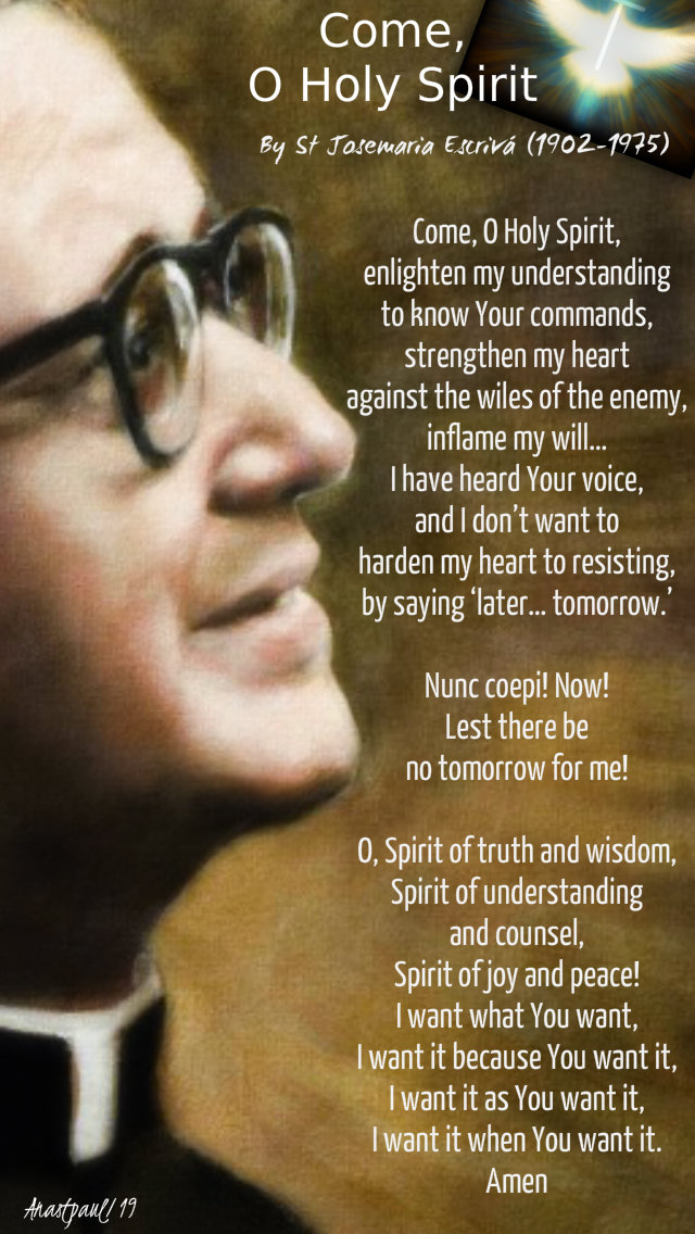 come o holy spirit st josemaria escriva 10 sept 2019.jpg