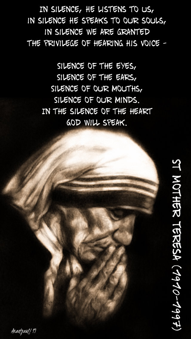 in silence - st mother teresa 10 sept 2019