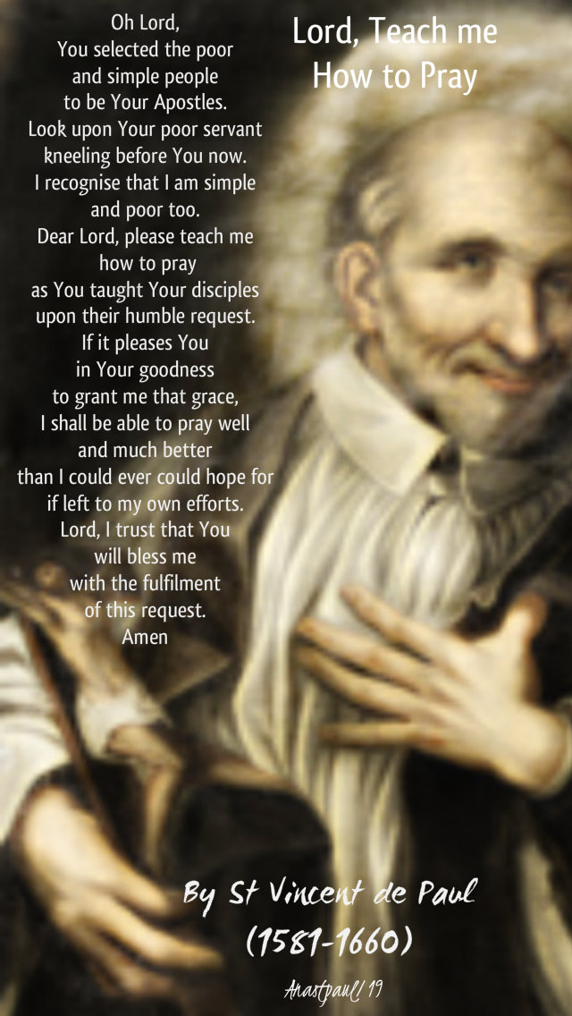 lord teach me how to pray - st vincent de paul - 27 sept 2019.jpg