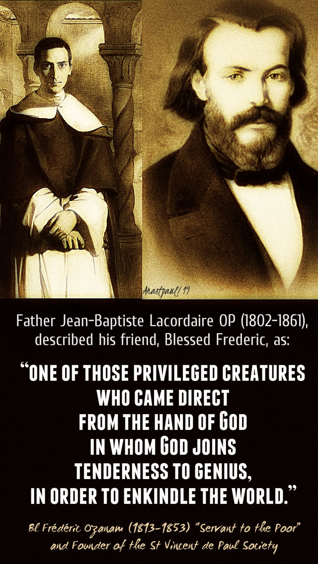 one of those priviliged creatures - bl frederic by jean baptiste lacordaire 9 sept 2019.jpg