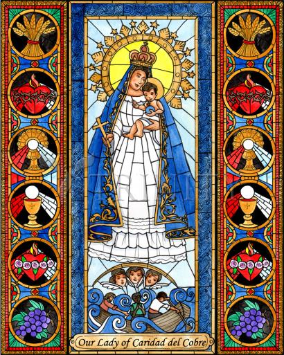 our lady of charity glass