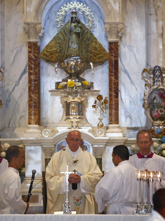 pope francis and our lady of charity