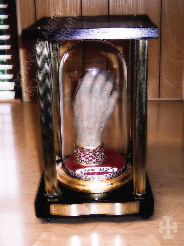 st ambrose barlow's hand