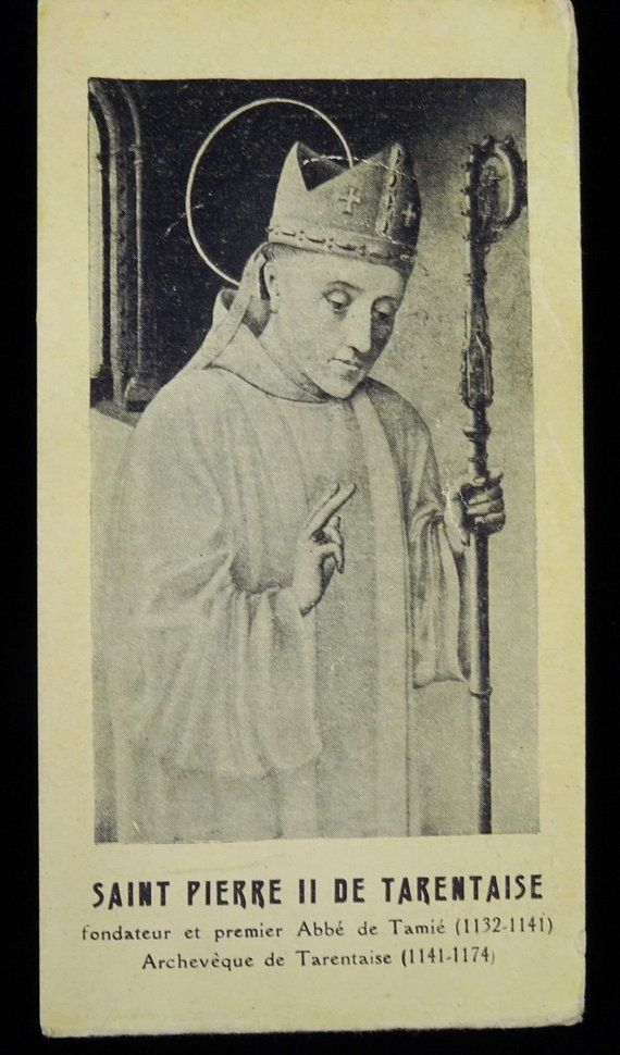 st peter of tarentaise holy card