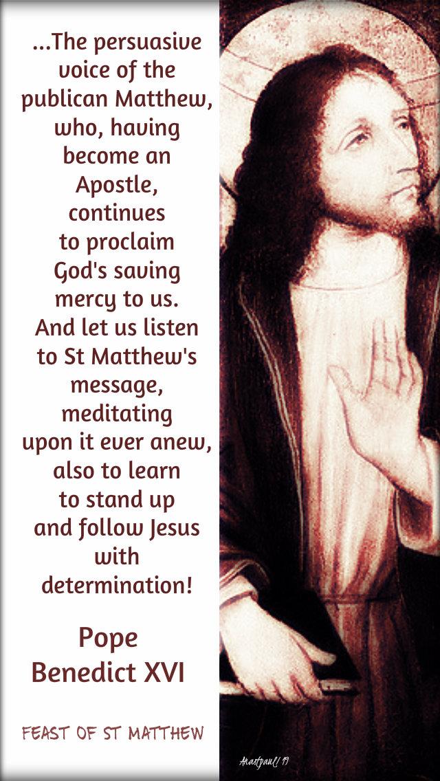 the persausvie voice of the publican matthew 21 sept 2019 pope benedict.jpg