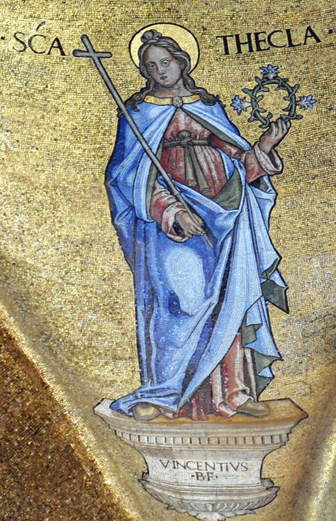 St Thecla Mosaic at St Mark's Basilica, Venice