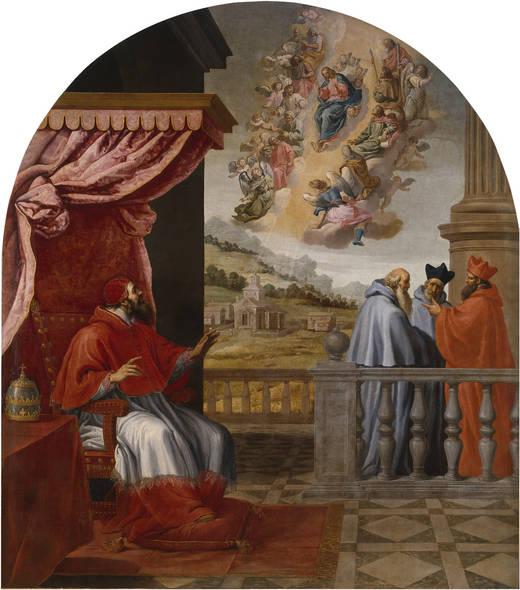 Vicente_Carducho.__Visión_del_papa_Víctor_III__(1626-1632),_Cartuja_del_Paular-Museo_del_Prado