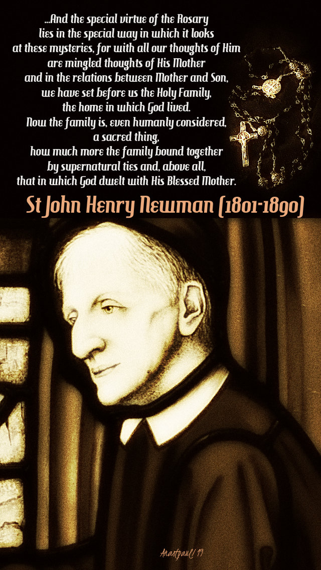and the special virtue of the rosary lies - st john henry newman 26 october 2019.jpg