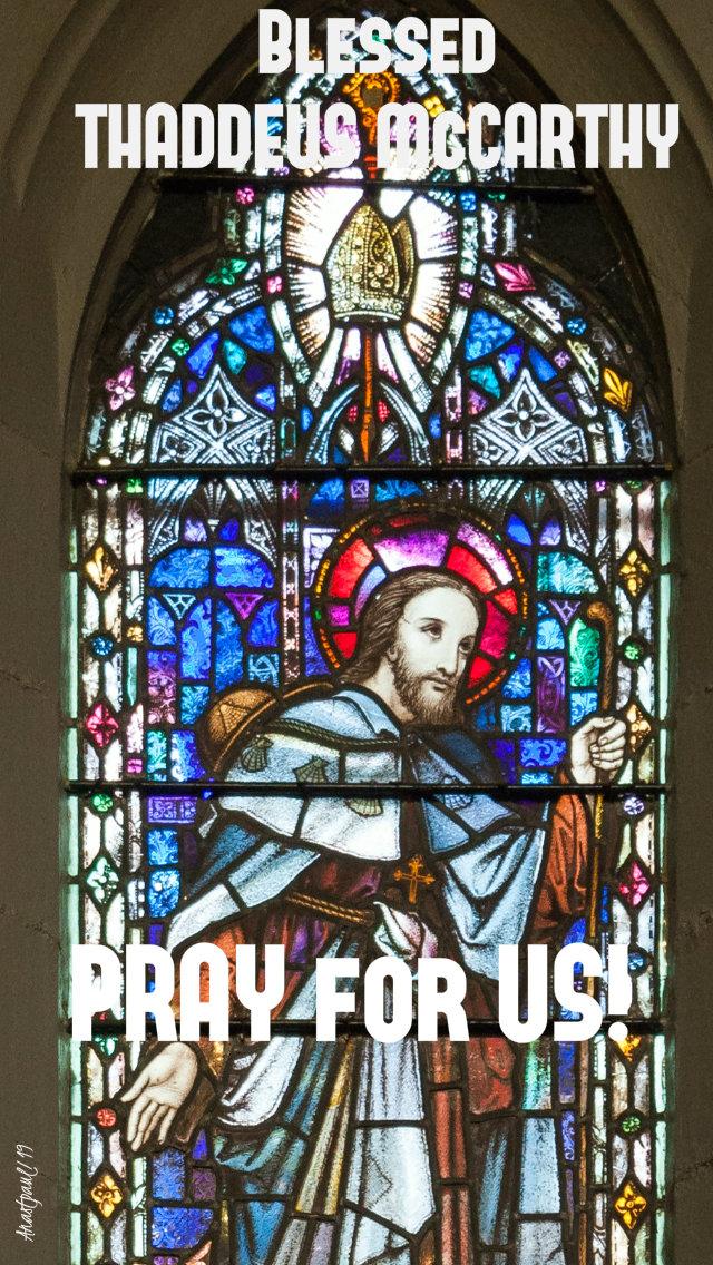 bl thaddeus mccarthy pray for us 25 oct 2919