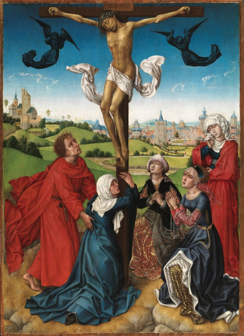 crucifixion blessed virgin, st john mary salome, mary magdalene and mary cleophas