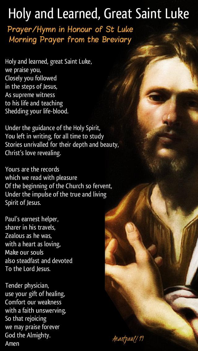 holy and learned great st luke - feast of st luke 18 oct 2019 hymnn prayer breviary.jpg