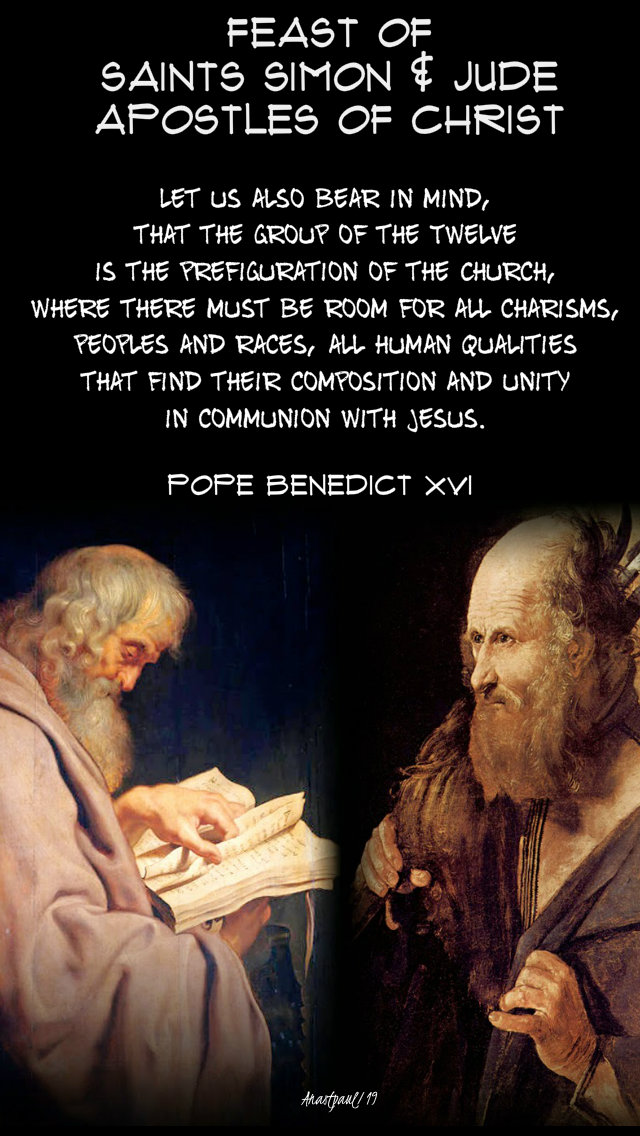 let us bear in the mind that the group of the twelve - sts simon and jude - pope benedict 28 oct 2019.jpg