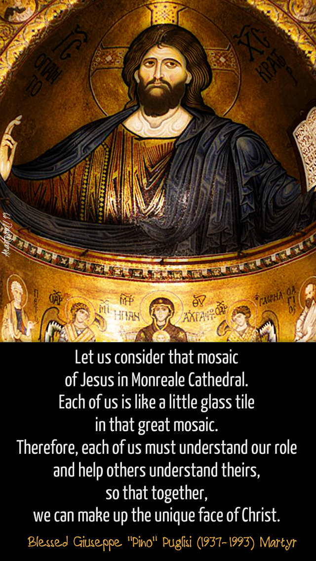 let us consider that mosaic of jesus - bl pino puglisi 21 oct 2019.jpg