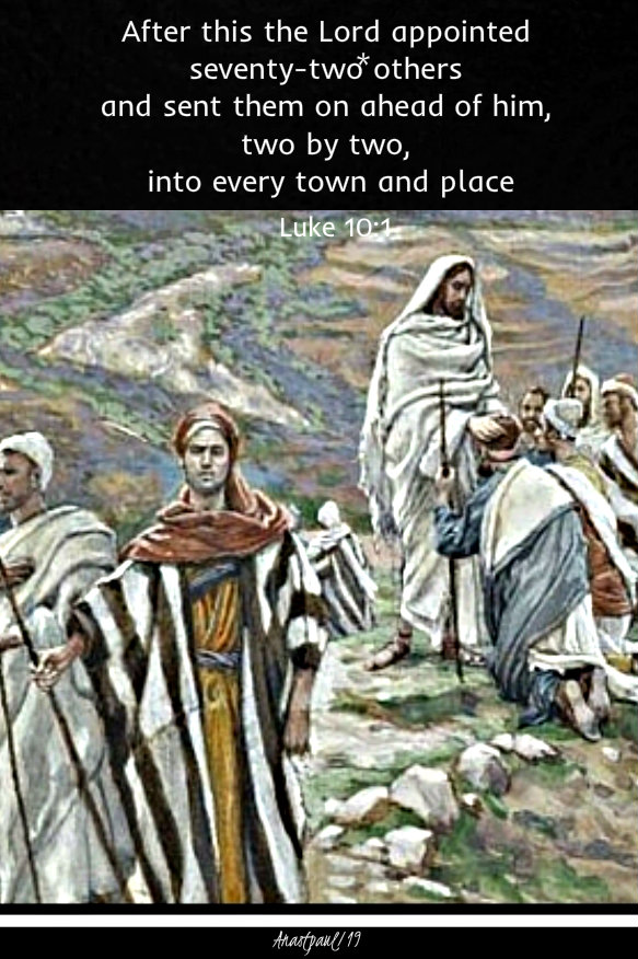 luke 10 1 after this the lord appointed 72 others - 3 oct 2019.jpg