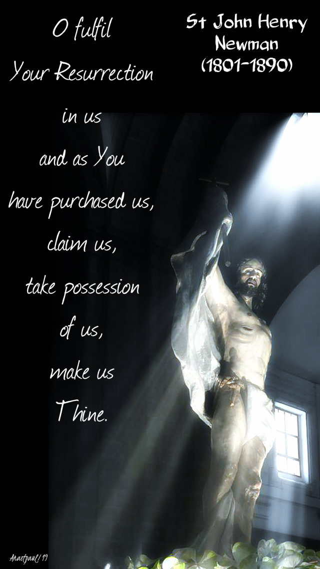 o fulfil your resurrection in us - st john henry newman 20 oct 2019.jpg