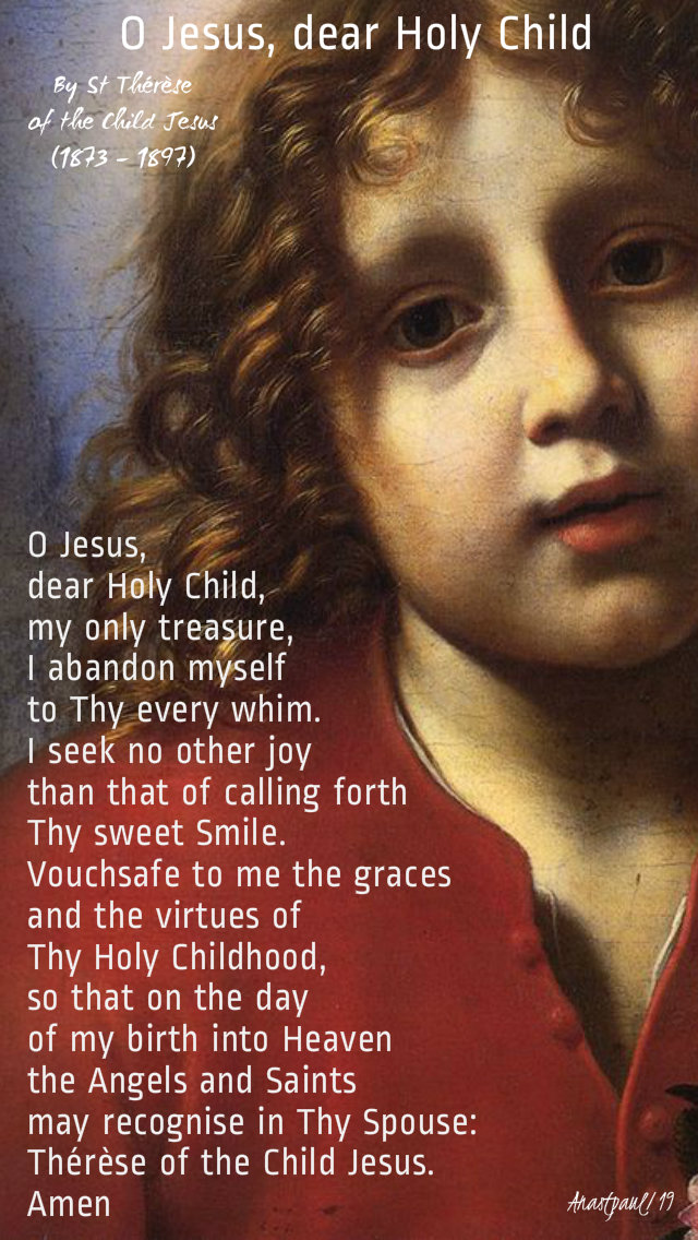 o jesus dear holy child by st therese of the child jesus 1 oct 2019.jpg