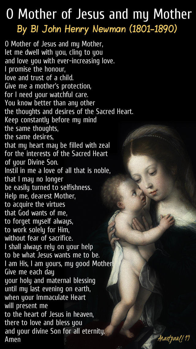 o mother of jesus ad my mother - 12 oct 2019 john henry newman .jpg