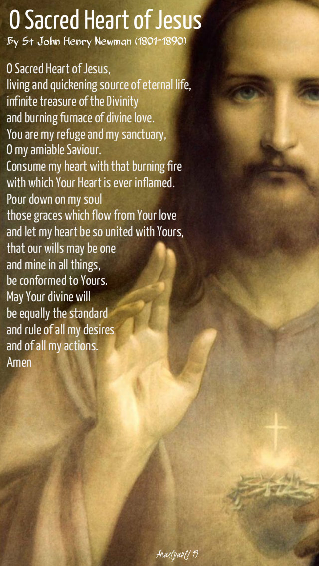o sacred heart of jesus by st john henry newman 25 oct 2019
