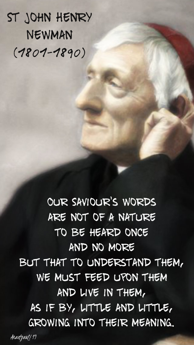 our saviour's words - st john henry newman 14 oct 2019.jpg