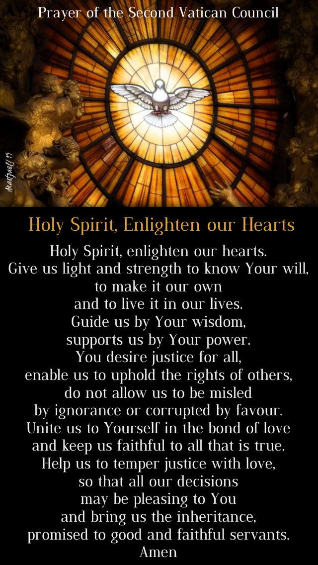 prayer of the second vatican council - holy spirit enlighten our hearts 8 oct 2019.jpg