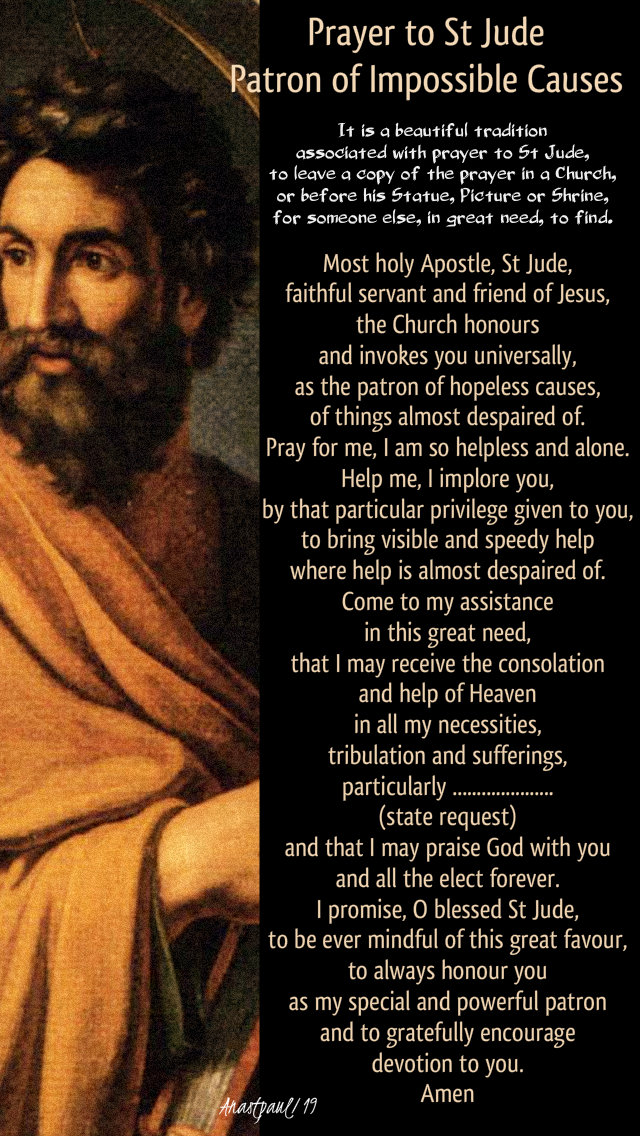 prayer to st jude - patron of impossible causes - 28 oct 2019.jpg