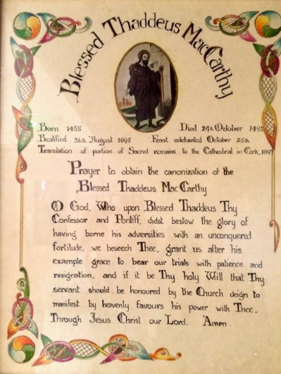 Prayer to Thaddeus, North Cathedral, Cork