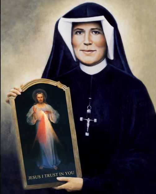 st faustina and the divine mercy image
