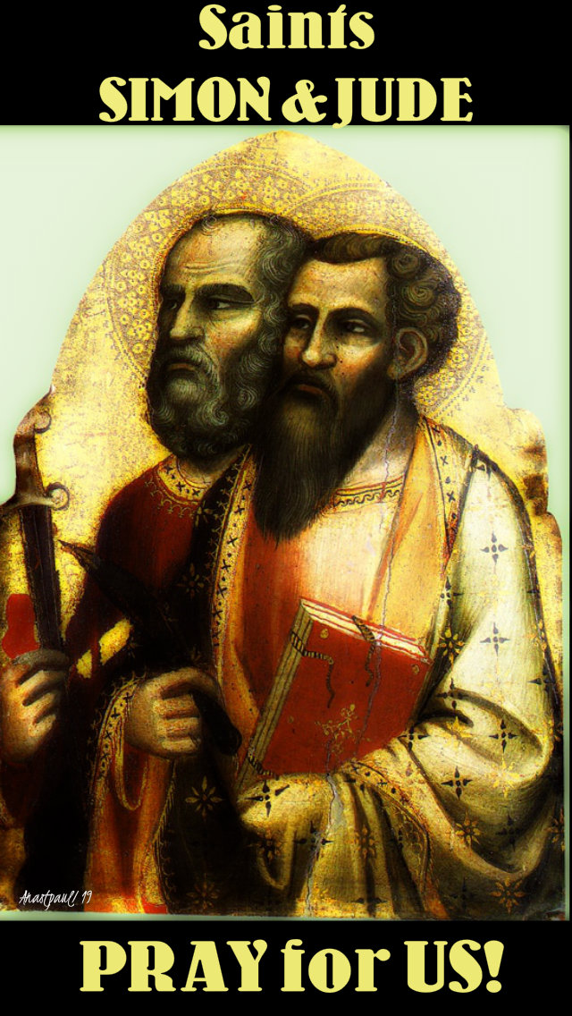 sts simon and jude pray for us 28 oct 2019