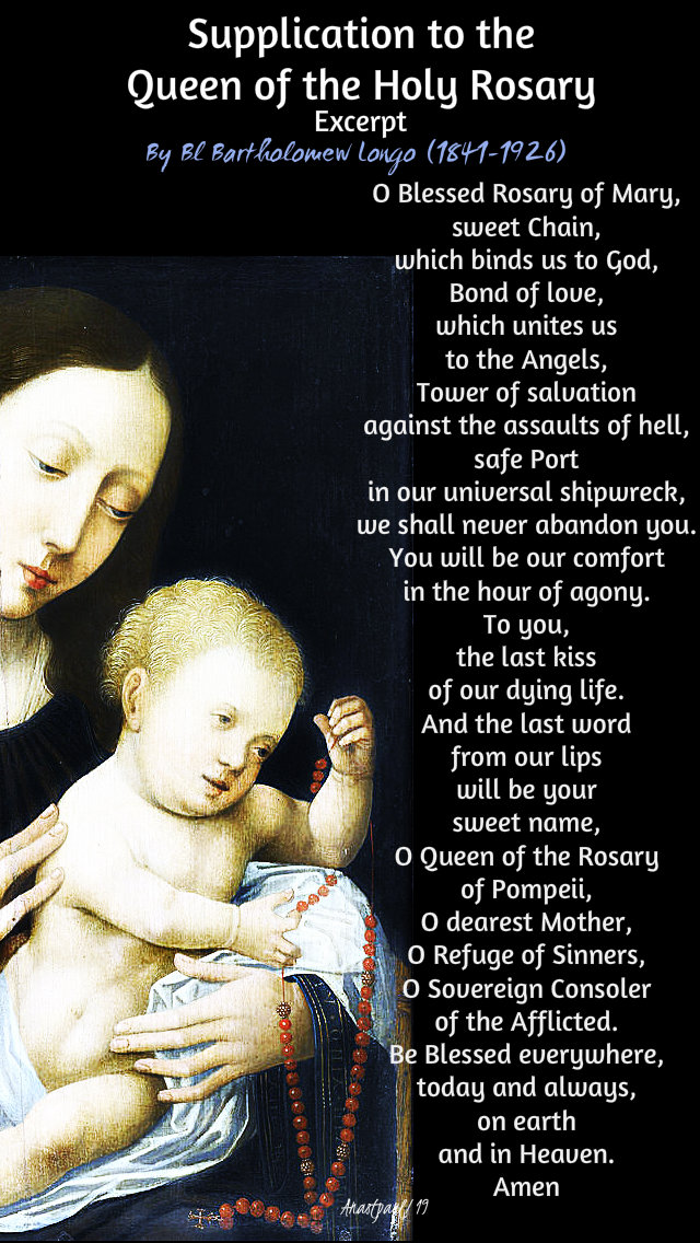 supplication to the queen of the holy rosary by bl bartholomew longo 7 oct 2019.jpg