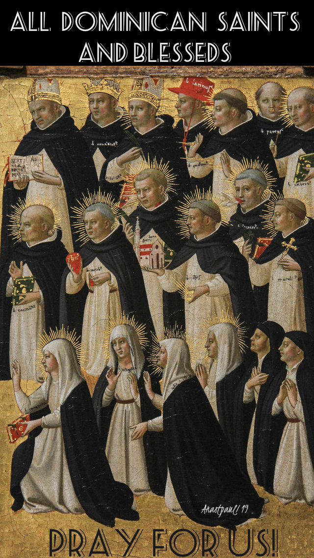all dominican saints pray for us 7 nov 2019