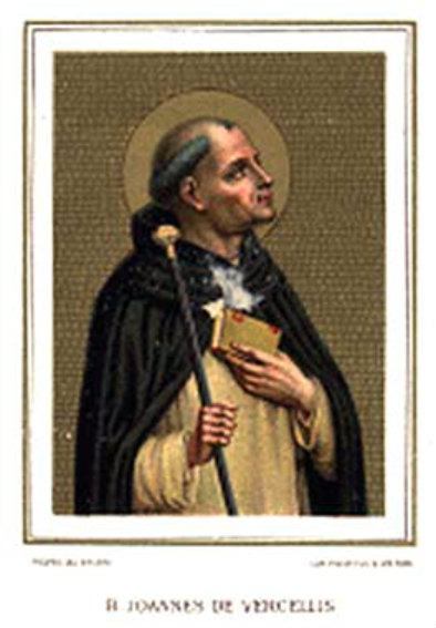 BL JOHN OF VERCELLI CARD