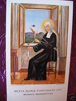 bl maria fortunata viti holy card