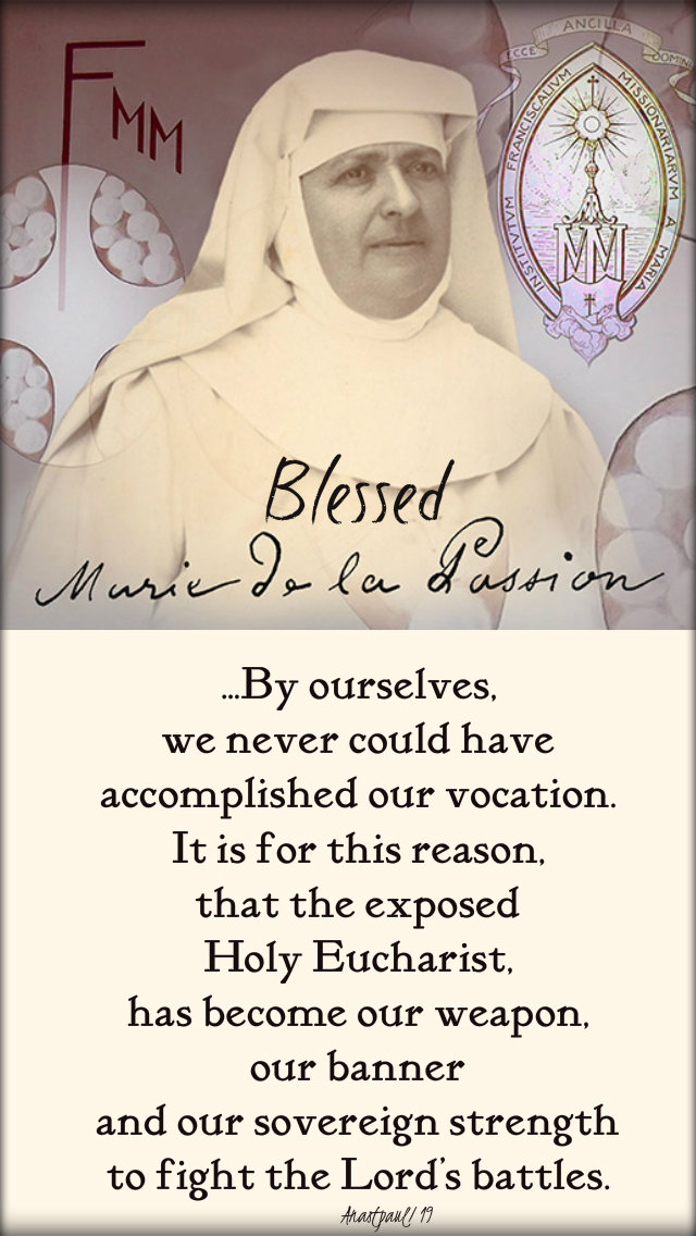 by ourselves we never could've - bl mary of the passion 15 nov 2019
