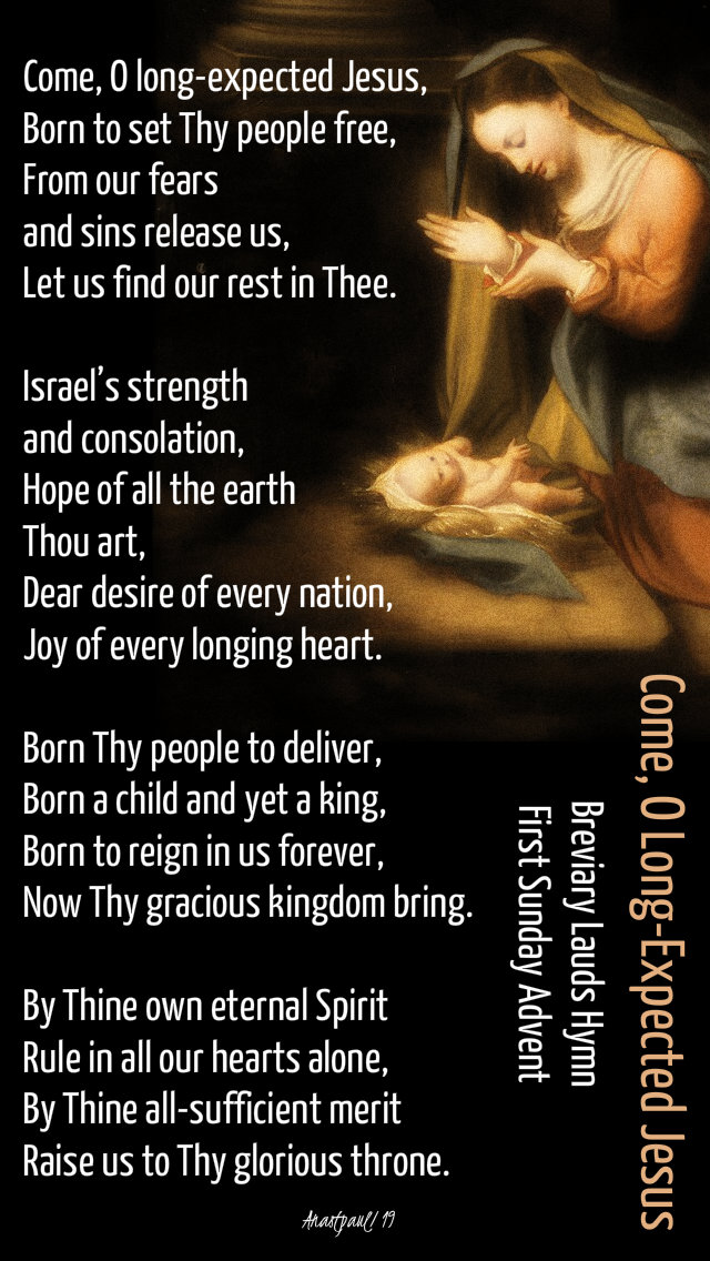 come o long expected jesus 1st sunday of advent 1 dec 2019.jpg