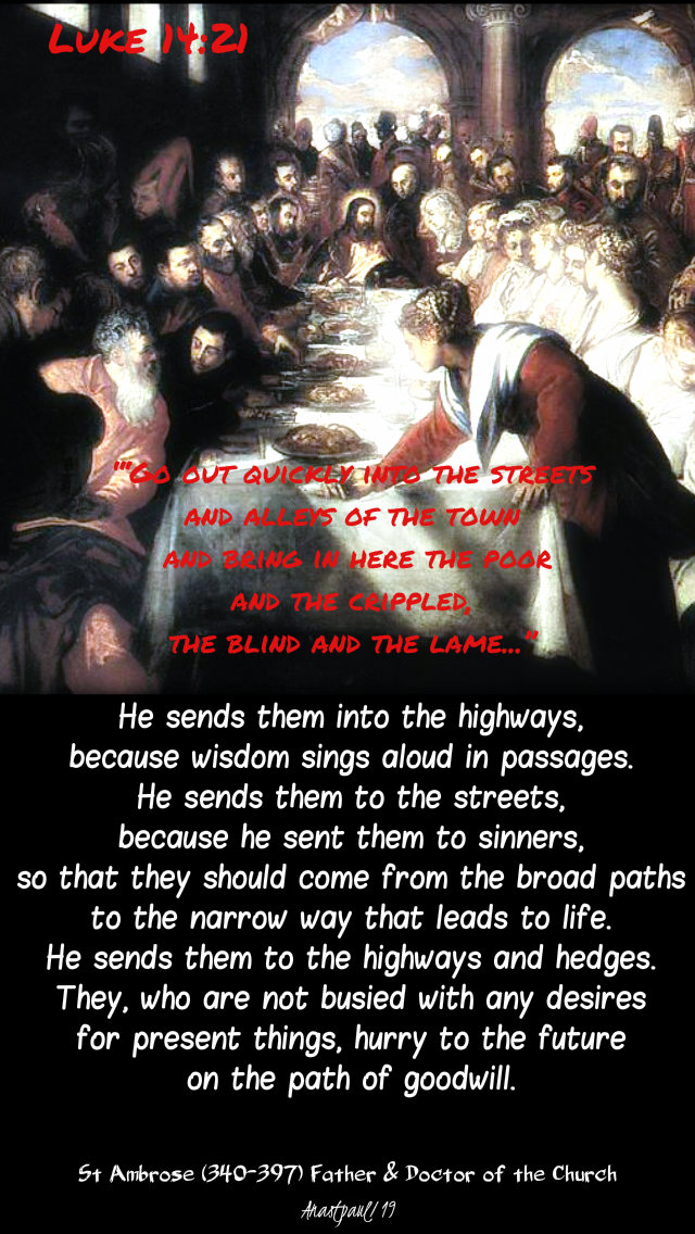he sends them to the highways -luke 14 21 parable of the great banquet st ambrose 5 nov 2019.jpg