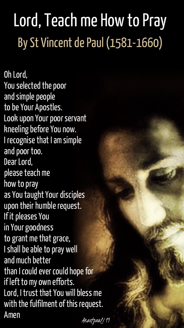 lord teach me how to pray - st vincent de paul - 20 nov 2019.jpg