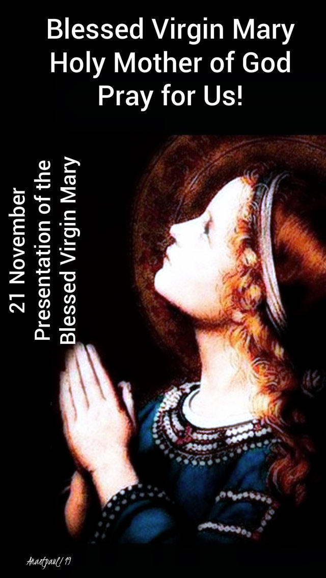 mary pray for us - preesentation 21 nov 2019