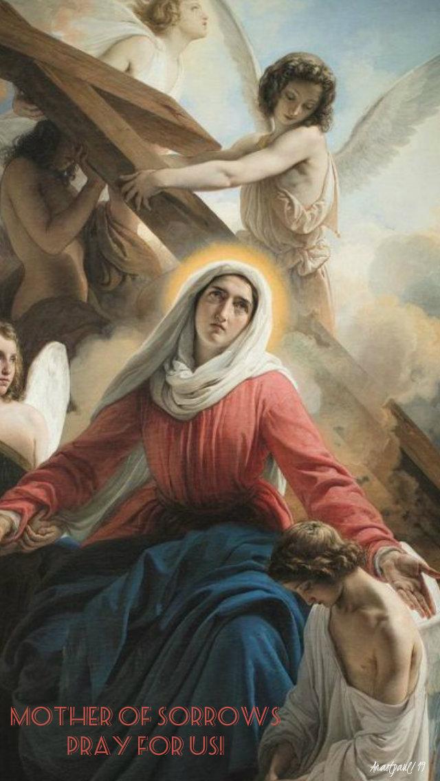 mother of sorrows pray for us 16 nov 2019