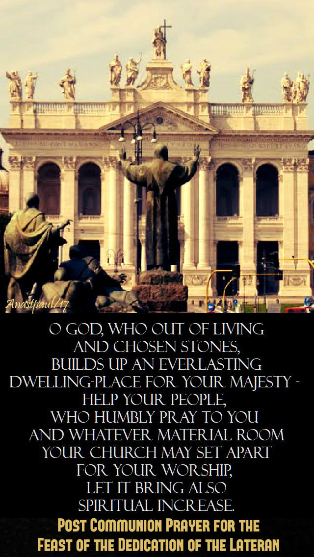 o-god-who-out-of-living-feast-of-st-john-lateran-9-nov-2017 and quotes 2019