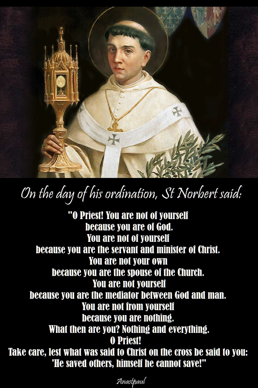 O Priest! - St Norbert