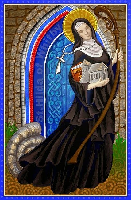 st hilda of whitby artwork