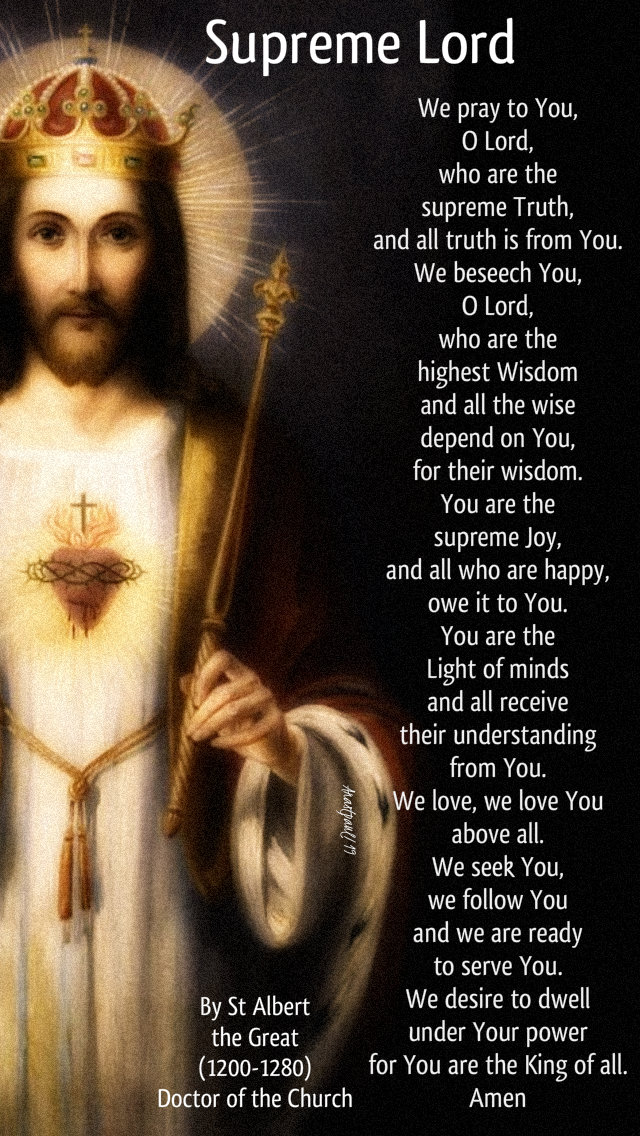 supreme lord-we pray to you  O Lord - st albert the great 15 nov 2019.jpg